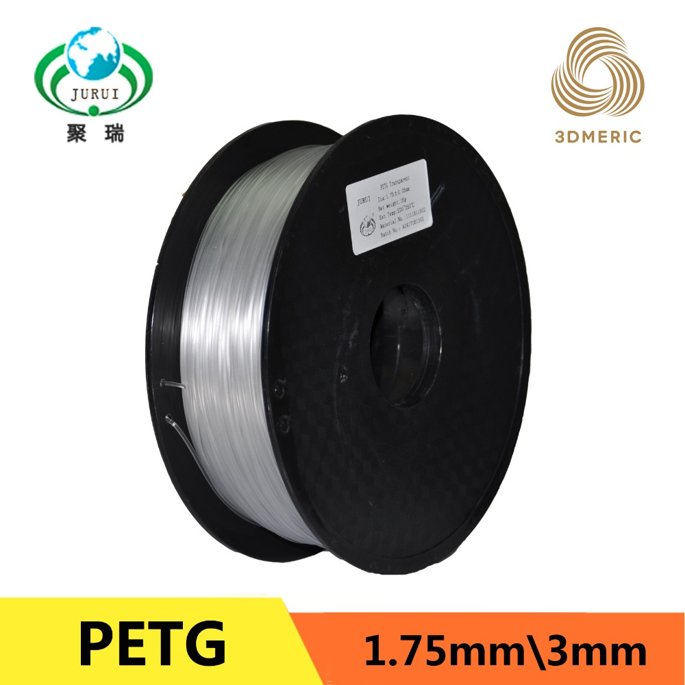 Transparent PETG T glass 3D Printer Filament Acid Alkaline Resistant 1 75mm 1kg spool Plastic Material
