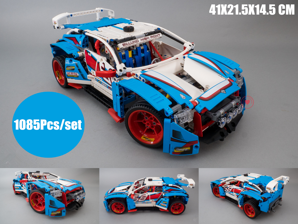 New Technic series 4DW Rally Car racing fit legoings technic car city Building Blocks Bricks diy Toys 42077 gift kids boys set