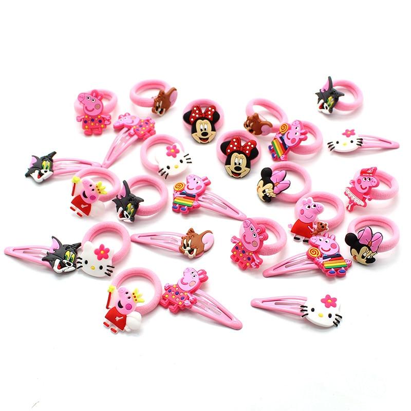 Cute Children Character Elastic Hair Bands Hairpins Hair clips Headwear Barrette for Girls Hair Accessories