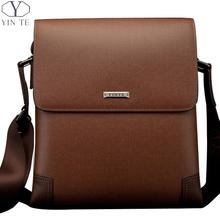 YINTE Leather Men's Messenger Bags Brown Bags Business Crossbody Bag Cover Men Bags Portfolio T8369-2