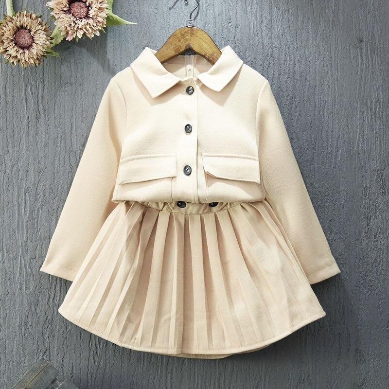 ФОТО spring autumn baby clothing set leisure fashion jacket + skirt of south korea