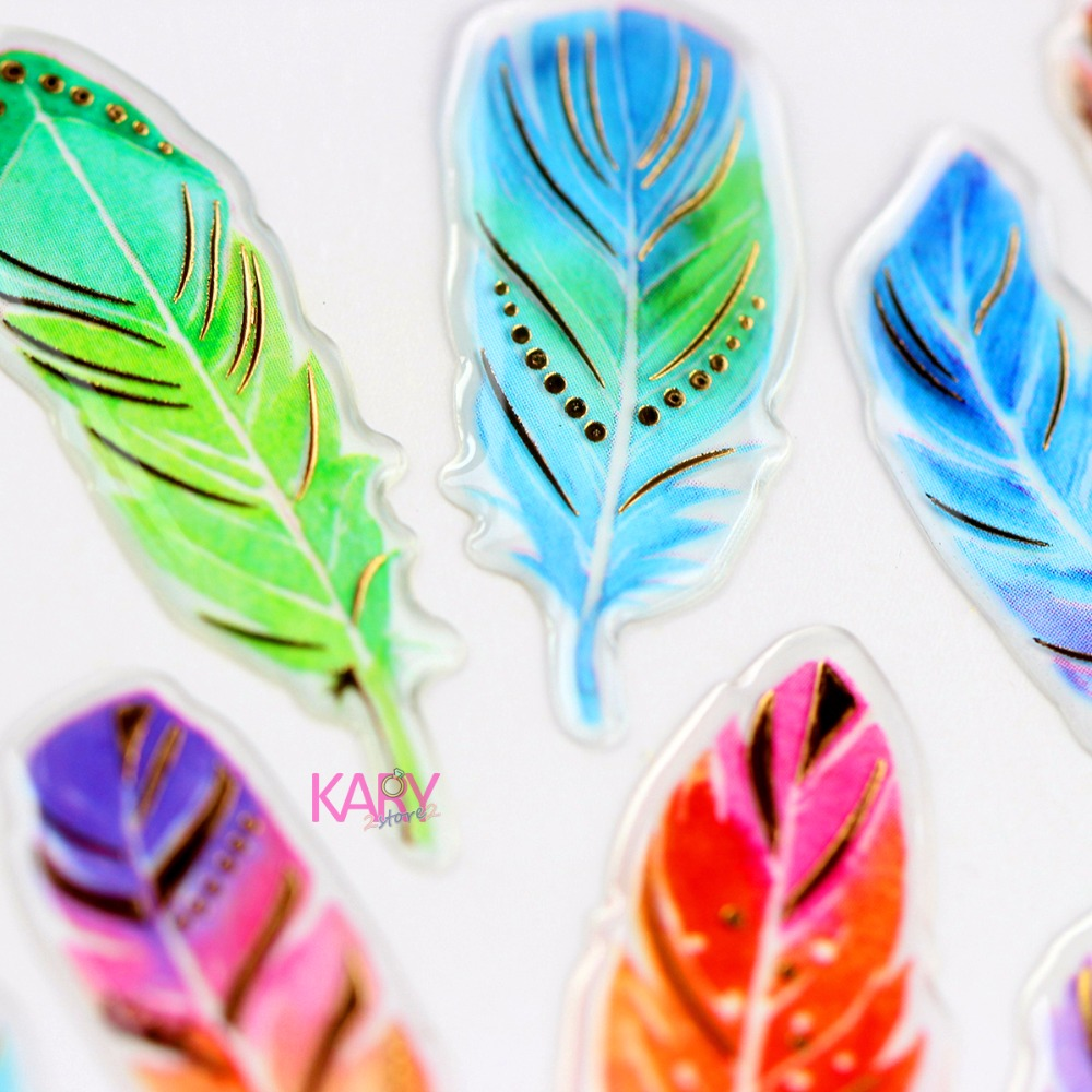 Colored Feathers Glitter Shiny Gilded Crystal Scrapbooking Stickers High Quality Accessory Toys For Children Diary Stationery Colored Feathers Glitter Shiny Gilded Crystal Scrapbooking Stickers High Quality Accessory Toys For Children Diary Stationery
