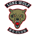 Animal Embroidered Patch 3D Lone Wolf Stickers For Clothes Back Applique Vest Ride Iron On Patches Clothing Badges Biker Patches