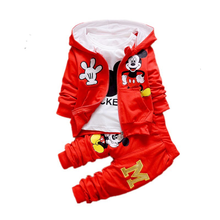 One-year-old boys and girls spring suit three-piece suit baby 0-1-2 years old 24 months spring and autumn outdoor clothing tide final girls three girls three tragedies one unthinkable secret