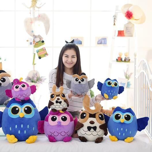 hot sale 1pcs35cm super cute night owl plush toy doll baby toys super soft doll best gift for kid free shipping