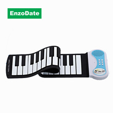 37 Keys Roll Up Piano, Kids Portable Electronic Keyboard, Midi Flexible Hand Roll Musicial Instruments