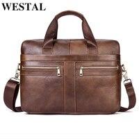 WESTAL Messenger Bag Men Shoulder Bag Genuine Leather Casual Male man briefcases laptop Men's Crossbody bags for Men 2019