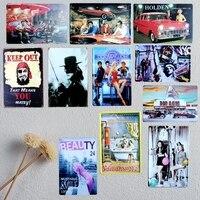 Orden de la mezcla Al Por Mayor Placas cartel de Chapa de Hojalata Poster Arte de la pared decoración House Cafe Bar Retro Metal Mix Pintura orden de 20*30 CM