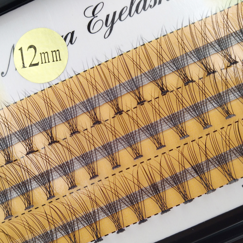 60 pieces/lot 0.07 C Curl 8 10 12 mm Individual Lashes Eyelash Extension Makeup False Lashes Eyelashes for Beauty
