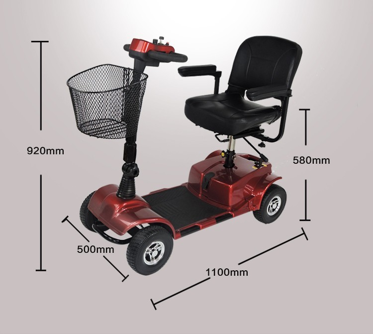 Folding eletric wheelchair wheel mobility electric for Motorized scooters for the elderly