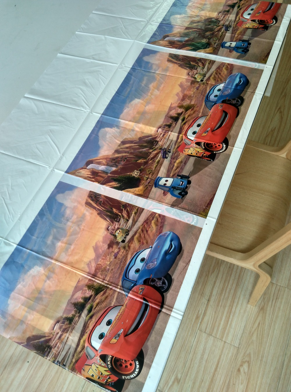 108cm*180cm Cool Cars Theme Party Supplies Tablecloth Favor Kids Girls  Birthday Party Festival Decoration