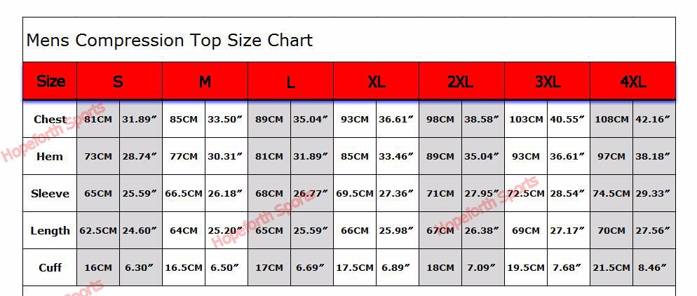 SIZE chart-top fixgear