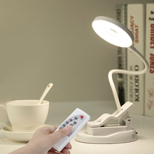 20 LED Table Lamp 1.5W USB Rechargeable Eye Caring With Mirror Clip Desk