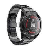 Genuine Stainless Steel Bracelet Quick Release Fit Band Strap For Garmin Fenix 5X GPS Watch Drop