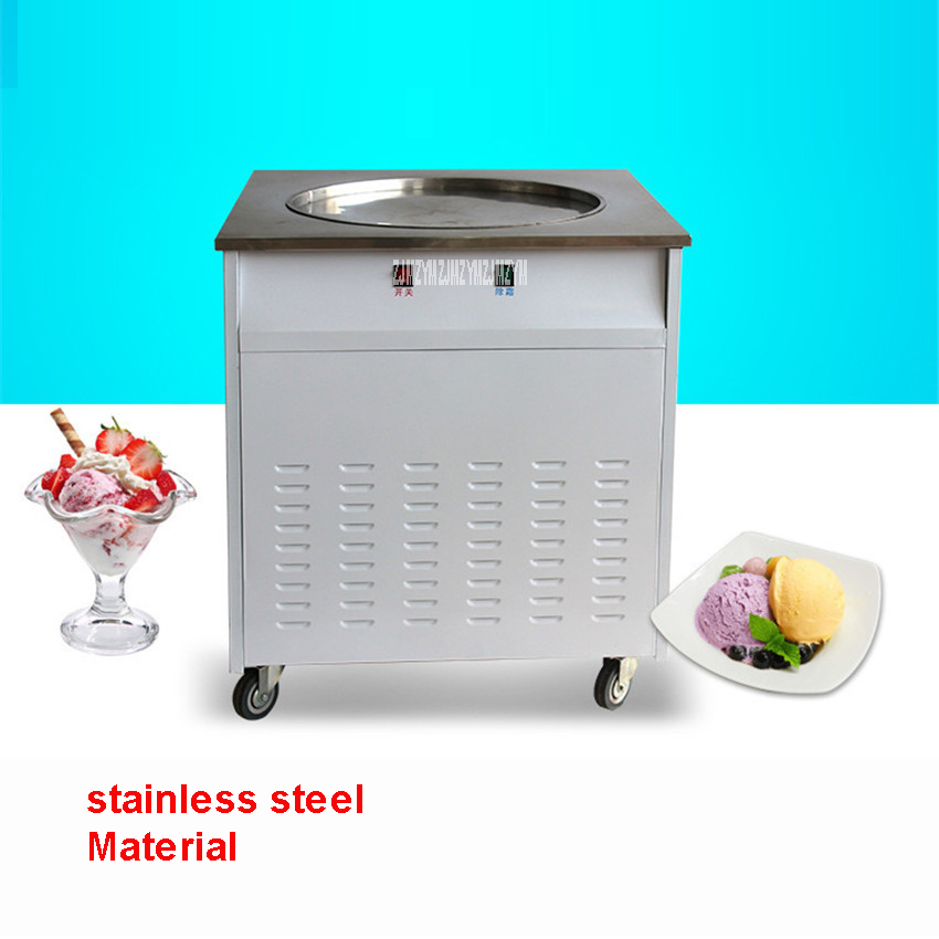 Shipping by sea New commercial ice cream maker ice cream machine 1500W/2500W 30/50kg / h roll ice cream makers Stainless steel
