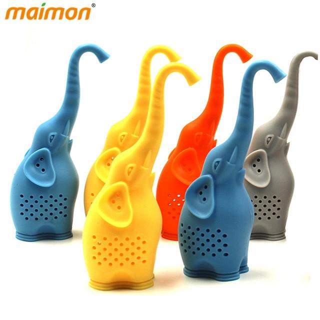 Aliexpress Com Beli 5 Pieces Lot Indah Gajah Silikon Infusers Teh