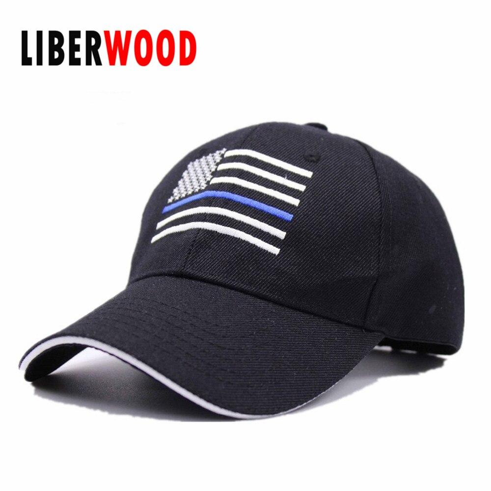 Thin Blue Line Hat Usa Police Memorial Usa American Flag