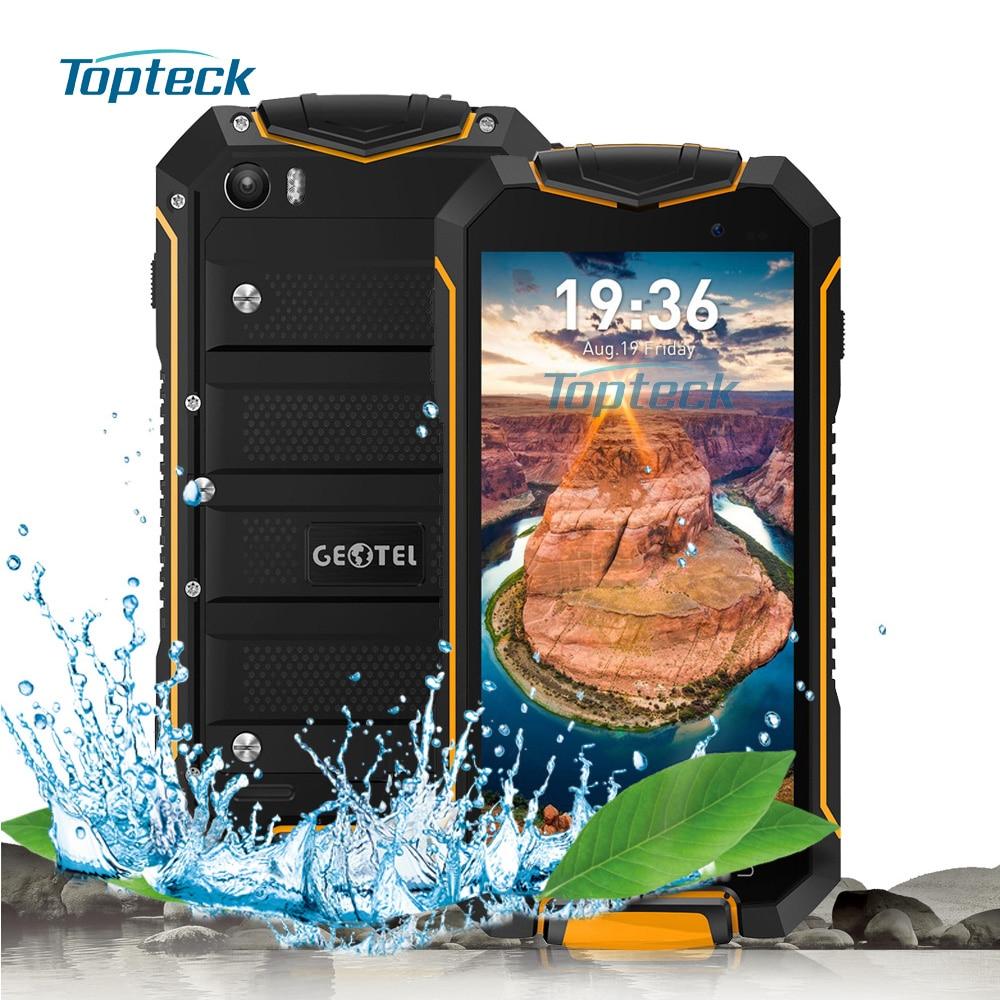 """bilder für Geotel A1 IP67 Wasserdicht Stoßfest Smartphone Android 7.0 4,5 """"HD MTK6580M Quad-Core-Handy 1 GB + 8 GB 8MP 3400 mAh Mobil-telefon"""
