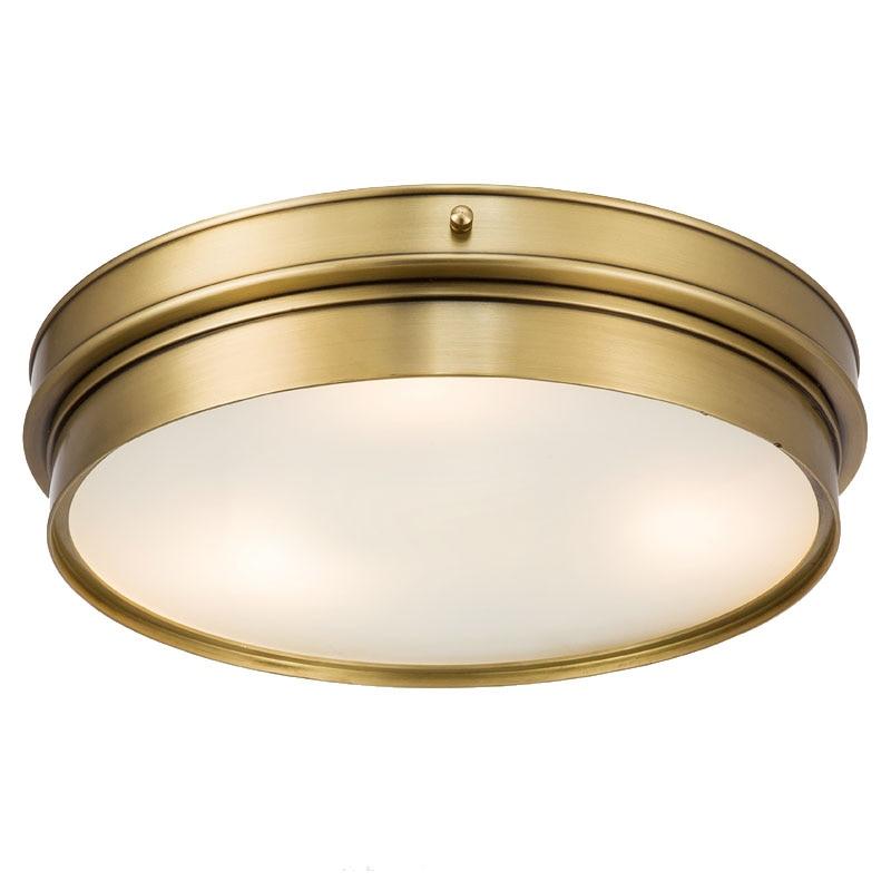 Dia.30cm 50cm America Copper ceiling Lamp light fixture Dining Room Bedroom Ceiling light Restaurant boutique Commercial Light