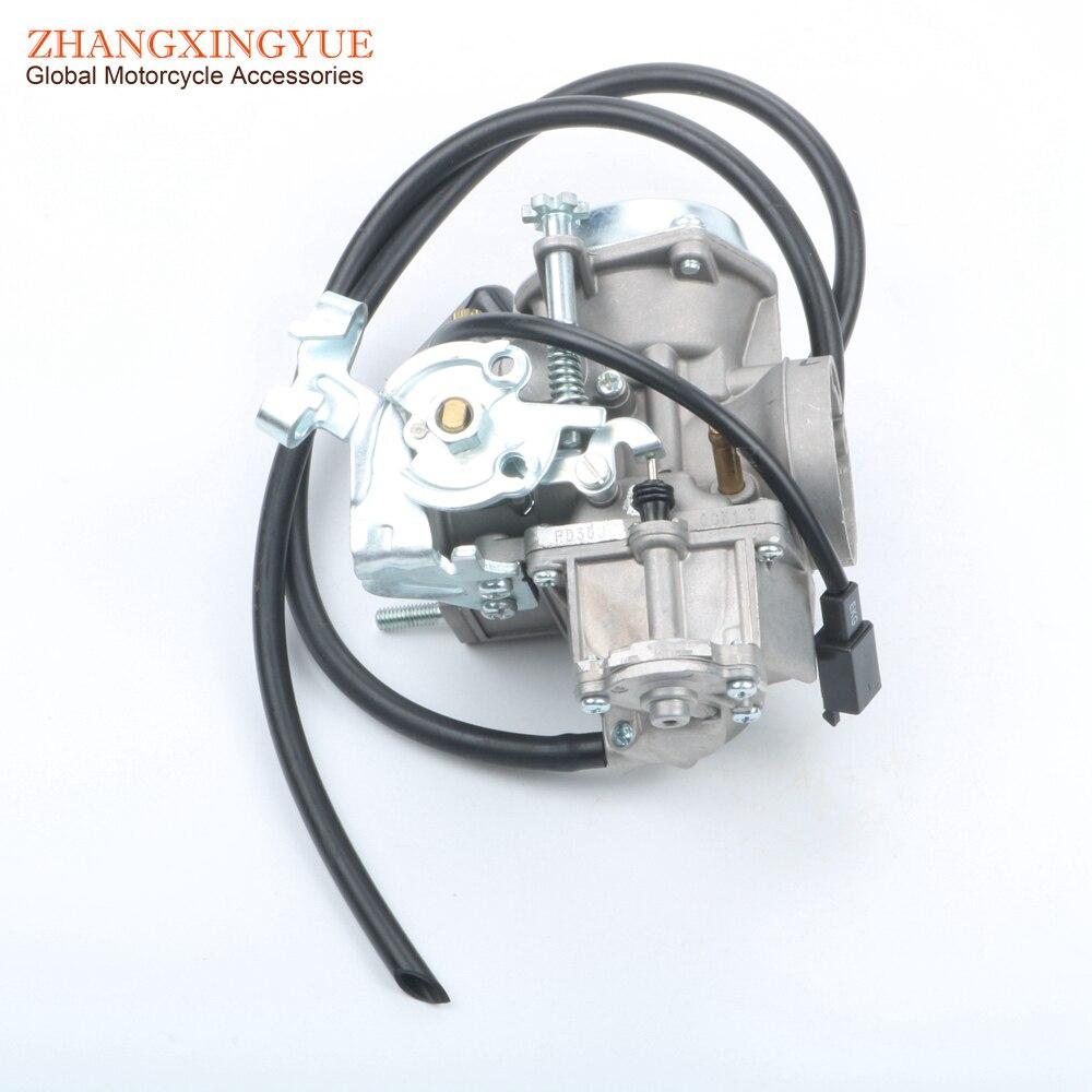 Manc Talon Linha CVK carburateur avec starter électrique pour 250cc 260cc 300cc PD30J
