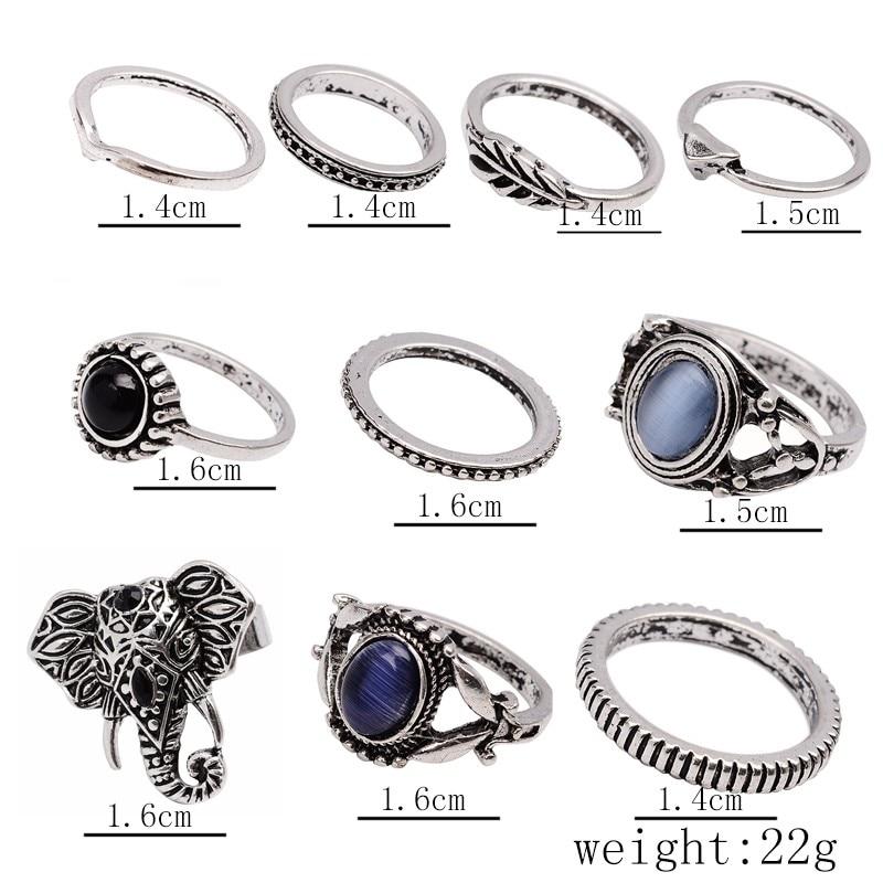 Docona Bohemian Ring Set 15