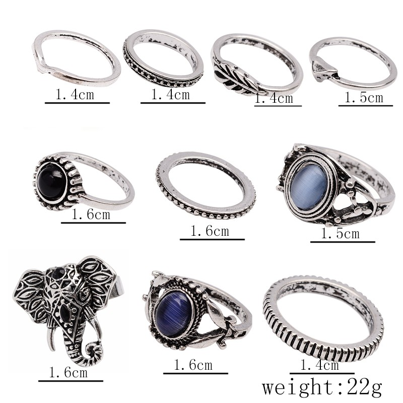 HTB1sSW1NpXXXXczaXXXq6xXFXXXh Stylish 10-Pieces Retro Boho Spirituality Knuckle Ring Set For Women - 4 Sets