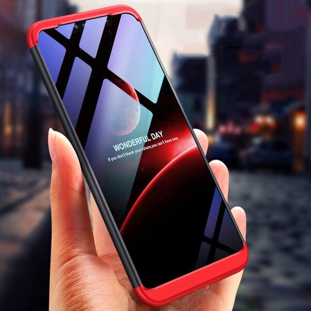 best website a8540 d6b5e US $2.35 21% OFF|MAODI Original Case for Xiaomi Mi 8 SE A2 Lite Max 3 Redmi  6A Case 360 All inclusive Shockproof Hard for Xiaomi Mi8 lite Cover-in ...