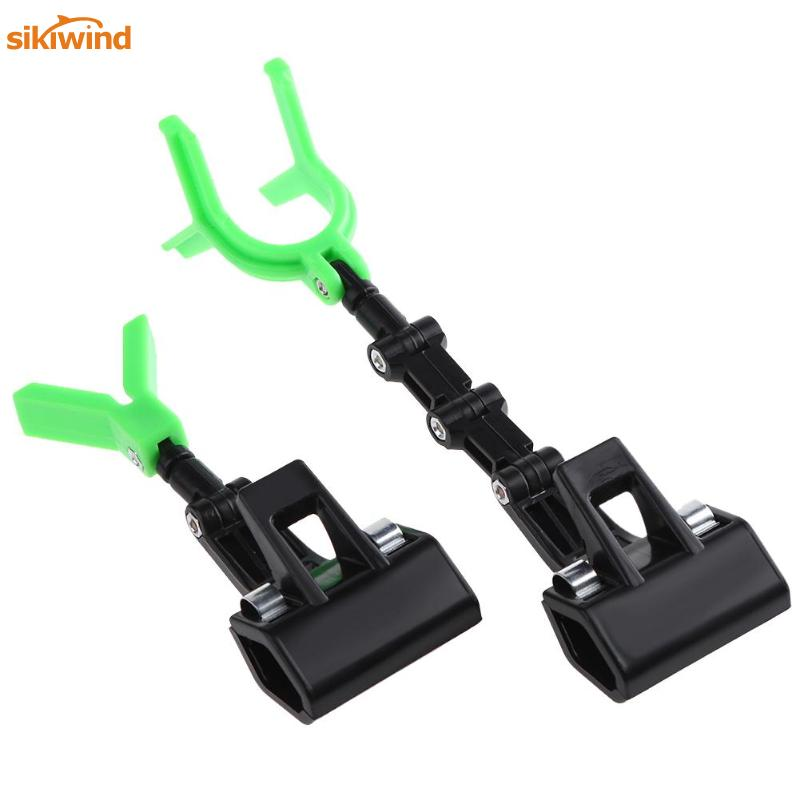 2pcs/set Luminous Fishing Rod Pole Holder Flexible Bracket Portable Adjustable Rod Holders for Raft Boat Outdoor Fishing