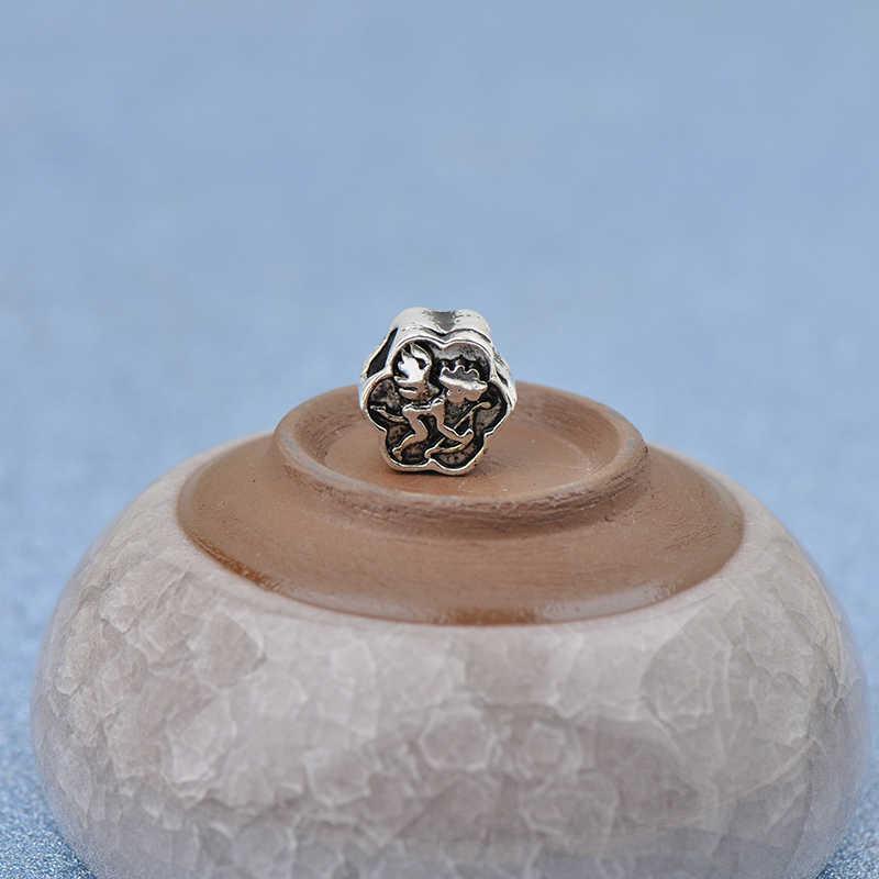 צבע כסף פאנק קופידון אוהב אלוהים כדור פרח קסמי חרוזים Fit פנדורה צמידי שרשראות לנשים באיכות גבוהה תכשיטי DIY