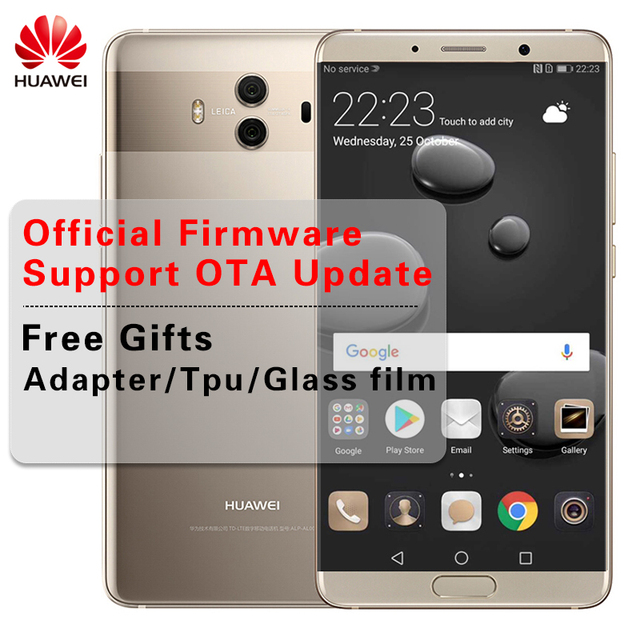 """International ROM Huawei Mate 10 Android 8.0 Dual Leica Camera 20MP 3D Curved Glass 5.9"""" Smartphone Kirin970 Octa Core 2.36GHz"""