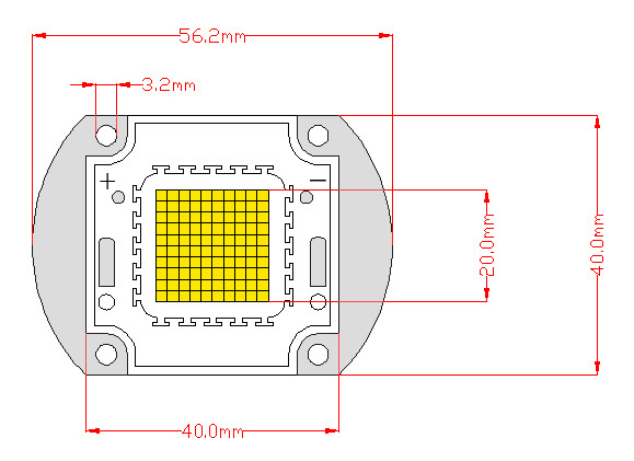 <font><b>90W</b></font> warm white &cool white high power <font><b>LED</b></font> <font><b>chip</b></font> image