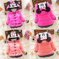 Newest Baby Boy Girl Autumn Warm Clothing Coat Baby Kids Girls Winter Minnie Mouse Cotton Coat Padded Outerwear Hoodies 1-4Y