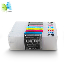 WINNERJET 300ml T606 Empty Refillable Ink Cartridge With Reset Chip For Epson 4800 4880 Large Format Printer [kld ink] compatible refillable ink cartridge for stylus pro 4800 large format inkjet printer 8 cartridges with chip