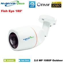 VR 180 Degree Panoramic Fish Eye Lens Outdoor 1080P IP Camera Night Veresion kamera APP Remote Control P2P IP Webcam Onvif
