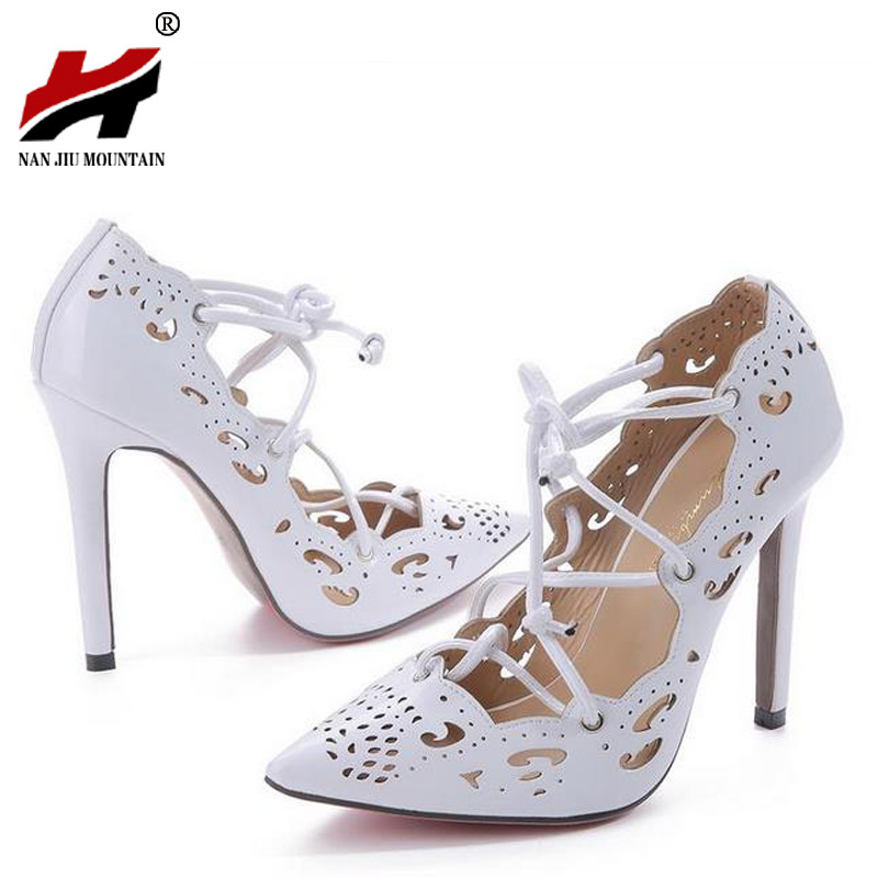 Women Pumps 2017 Brand Sexy High Heels Wedding Party Woman Shoes Gold and White Heels Zapatos Mujer Plus Size 35-43 цены онлайн