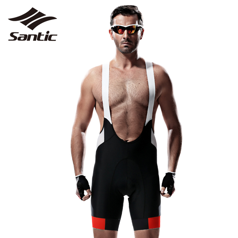 Santic Cycling Bib Shorts Men PRO Fit 4D Imported Pad MTB Road Bike Shorts Breathable Bicycle Shorts Clothing Bermuda Ciclismo santic men s professional cycling bib shorts coolmax padded man s bicycle bib shorts 3d braces pants bike tights s 3xl