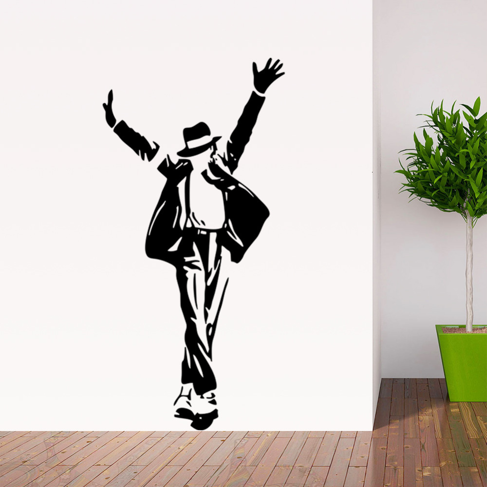 aliexpress com buy michael jackson wall sticker removable wall aliexpress com buy michael jackson wall sticker removable wall decor decal wall paper art poster diy home decor adhesive parede from reliable sticker