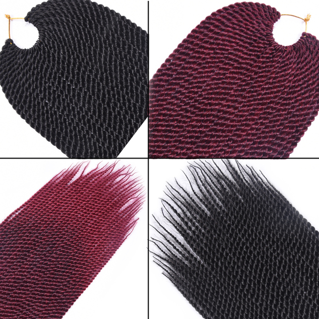 TOMO 30roots Senegalese Twist Crochet Braid Hair Extensions Kanekalon Synthetic Braiding Hair Faux Locs Dreadlocks Box Braids