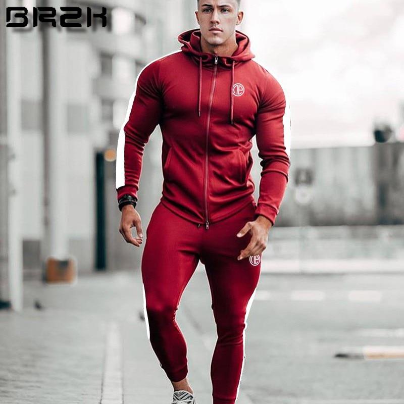 Sporting Suits Mens Fashion Tracksuit Men Trainingspak Survetement Men's Sportwear Suit Hoodies Tracksuit Set Male