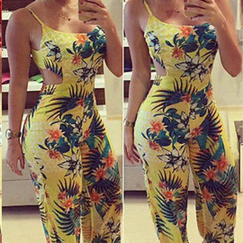 New Sexy Summer Women Backless Party Jumpsuit Fashion Bodycon Romper Jumpsuit Clubwear