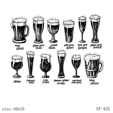 AZSG Different Beer Tumbler Clear Stamps For DIY Scrapbooking Decorative Card making Craft Fun Decoration Supplies 10x15cm