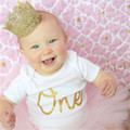 Artificial Elegant Infant Newborn Mini Felt Glitter Gold Lace Crown Headbands For Baby Girls DIY Crafts Hair Accessories