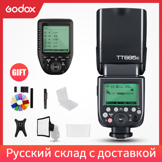 Godox TT685C TT685S TT685N TT685F TT685O TTL HSS kamery lampa błyskowa lampa błyskowa z Xpro nadajnik do Canon Sony Nikon Fuji Olympus