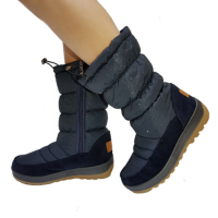 UKNIKI Shoes Women Boots Winter Snow Boots With Zip And Short Plush Mid Calf Boots