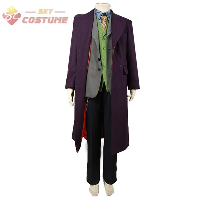 Batman The Dark Knight Joker Cosplay Trench Coat+Blazer+pants+Vest+Shirt