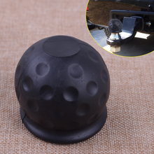 DWCX Car Rubber Black 50mm Tow Ball Towball Protector Cover Cap Hitch Caravan Trailer 2 black rubber hitch plug cover for toyota class iii receiver hitch for jeep hitch cover class iv v