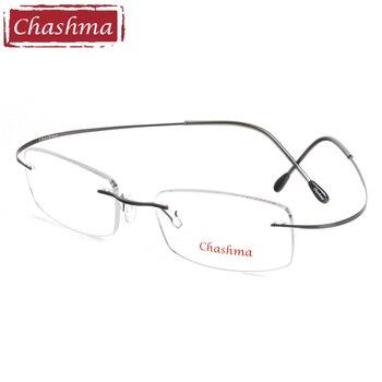 Chashma מותג טיטניום משקפי קריאה סופר אור קוצר ראייה אופטית משקפיים מרשם משקפיים מסגרת לזכר ונקבה
