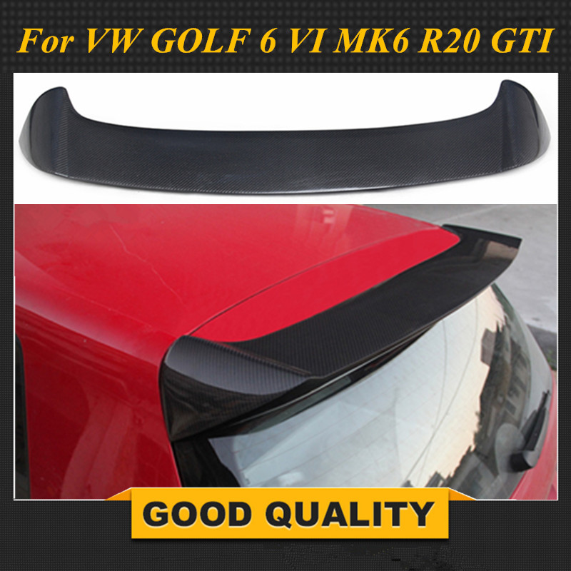 Углеродного волокна/FRP Неокрашенный задний спойлер крыло для Volkswagen VW Golf 6 MK6 VI GTI R20 2010 2013 OS Стиль только для GTI R20
