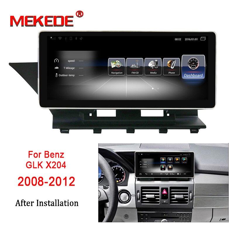 Lecteur multimédia de voiture MEKEDE Android 7.1 pour Benz GLK X204 2008-2012 10.25 pouces écran tactile GPS Navigation radio stéréo dash
