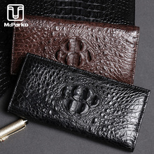 McParko Genuine Crocodile Leather Wallet Men Luxury Long Wallet Men Purse Fashion Card Holder Bifold For Male Alligator Wallets